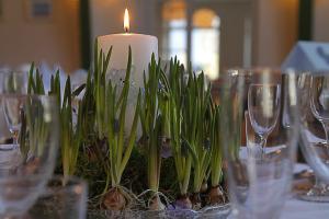 Blomsterdekoration fra Tina´s binderi i Stege