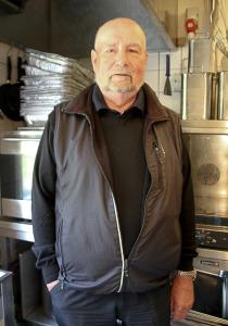 hr. Svendsen på besøg i køkkenet 2015